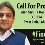 #FindRaza protests continue in Pakistan as world celebrates Human Rights Day