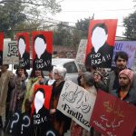 Civil society protests against Raza Khan's disappearance