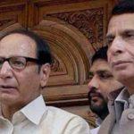 Chaudhry Shujaat, Pervaiz Elahi appear before NAB