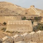 Two portions of Ranikot Fort wall collapsed