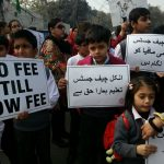 Parents of private schools' students hold protest demonstration