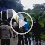 Horrible scene: Bus falls from a mountain
