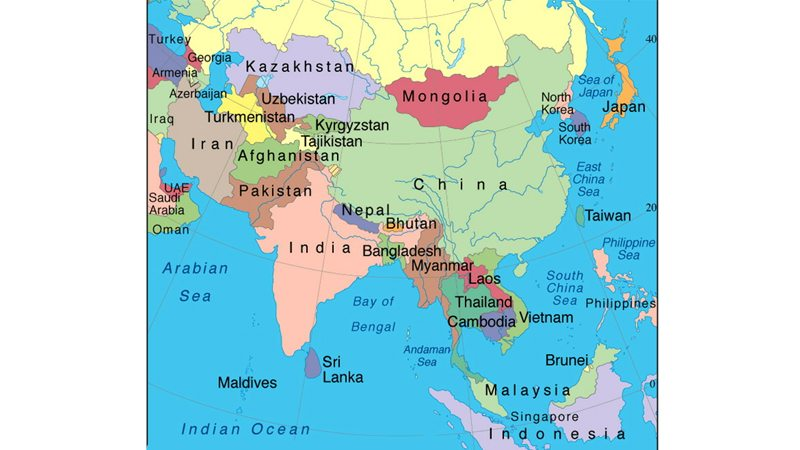 Map Of Asia And Japan.Japan And South Asia Daily Times