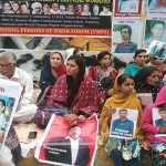 Security personnel attack camp against enforced disappearances