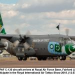 PAF Hercules arrives in the UK to participate in Royal International Air Tattoo show 2018
