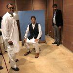 Imran Khan wearing a borrowed waiscoat