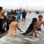 Families celebrate Eid by visiting recreation sites, beaches, cinemas