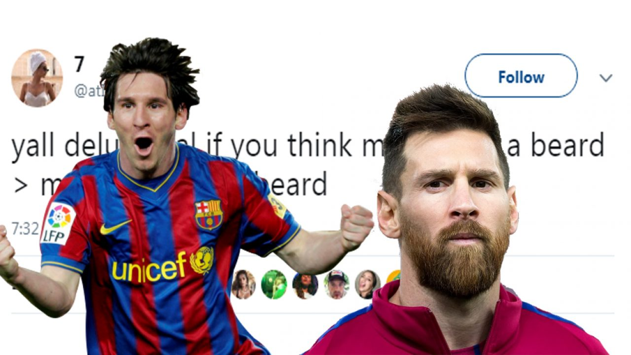 Twitter Wars With Beard Or Without One Which Lionel Messi Is Better Daily Times