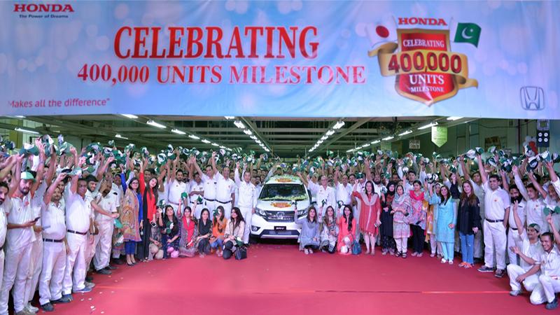 Honda Atlas Cars Celebrates 400 000 Unit Production Milestone