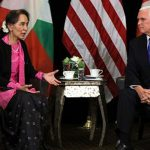 Pence decries violence against Rohingya in open remarks to Suu Kyi
