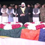 Funeral prayers of martyred SP Dawar offered in Peshawar