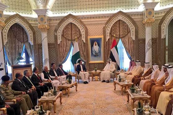 PM Khan, Abu Dhabi Crown Prince Nahyan discuss bilateral ties