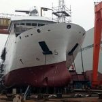 Launching ceremony of state-of-the-art survey ship for PN held in China