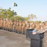COAS visits forward troops in Gadra Sector Sindh, commends troop's high morale