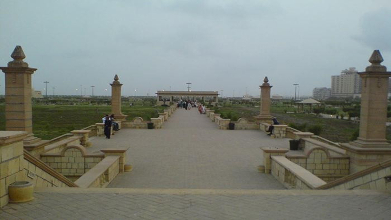 The once beautiful Locus Park of Sukkur is now in shambles