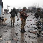 Suicide car bomber kills 44 policemen in Held Kashmir