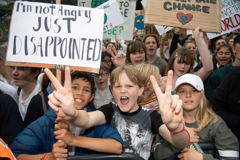 Thousands skip school to march for climate change