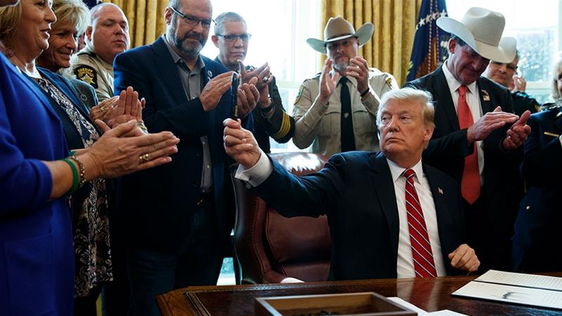Trump overrules Congress on emergency over border, issues first veto