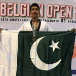 Pakistan's Sinan wins silver at Belgium Taekwondo Open Championship