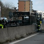 Italy driver hijacks, torches school bus carrying dozens of children