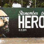 Kiwi artist paints Naeem Rashid's mural to honour Christchurch victims