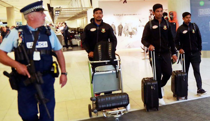 Bangladesh cricketers arrive home after Christchurch massacre