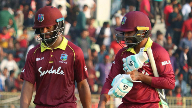 Hope's century in vain as Bangladesh down West Indies by