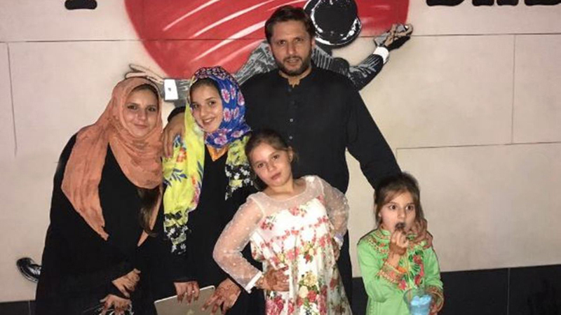 Shahid Afridi Forbids Daughters From Playing Outdoor