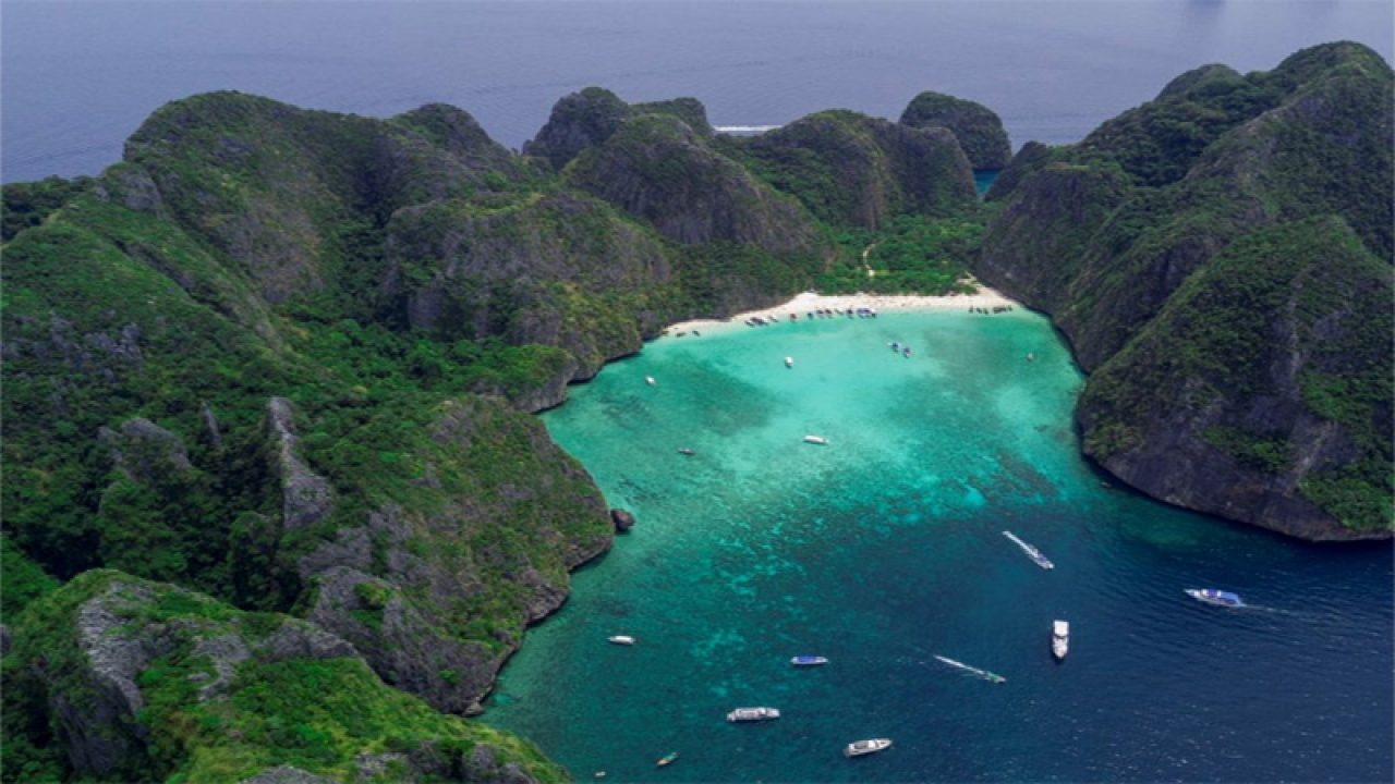 Maya Bay Beach Made Famous By Leonardo