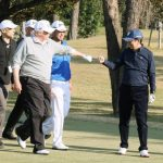 Eyeing decent trade terms, Abe woos 'golf buddy' Trump