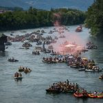With no sea, regatta on Drina is equally good for Serbs