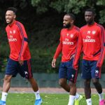 Arsenal trio can match Liverpool's front three, says Aubameyang