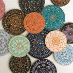 Mandala artist hand-paints mesmerising patterns on ceramic plates and mugs