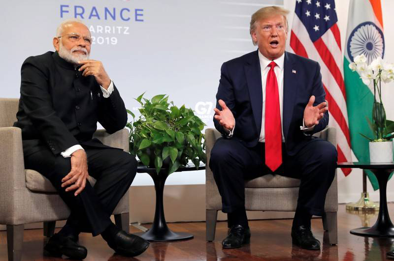 Trump by side, Modi rejects mediation