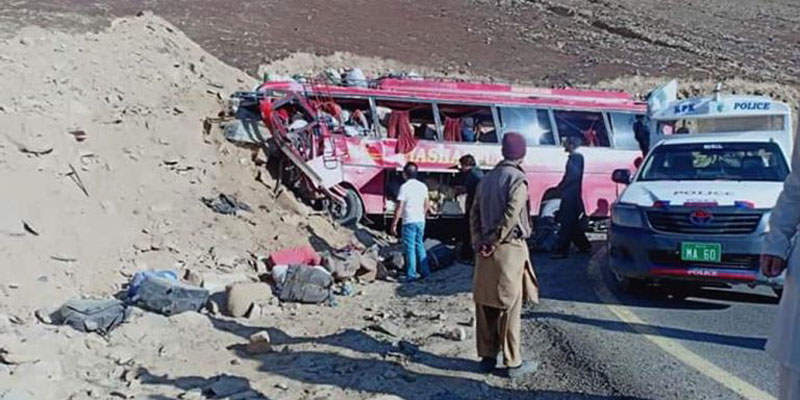 26 killed, dozen injured in Diamer bus crash