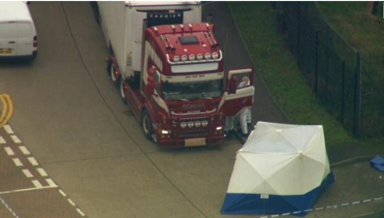 39 bodies found inside truck container in Britain