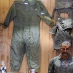 Abhinandan's mannequin displayed with tea mug at PAF Museum