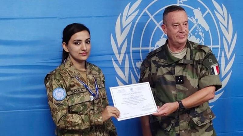 Pak Army's Major Samia awarded UN Secretary-General certificate