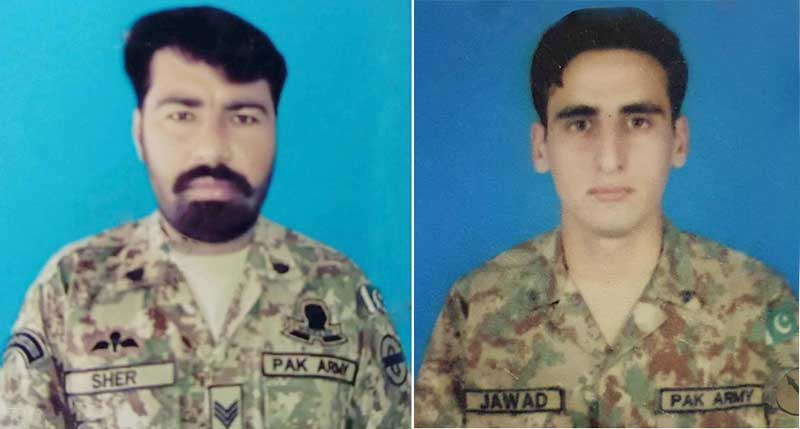 Two soldiers martyred in Waziristan