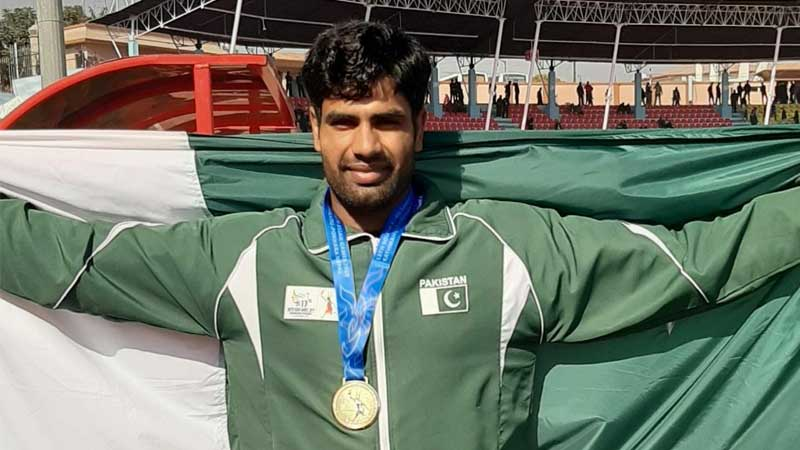 Pakistan's javelin thrower Arshad wins gold, qualifies for 2020 Olympics