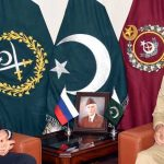 General Bajwa meets British HC, Russian trade minister