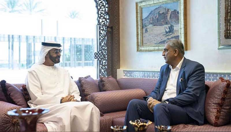 COAS, UAE crown prince discuss ways to boost cooperation