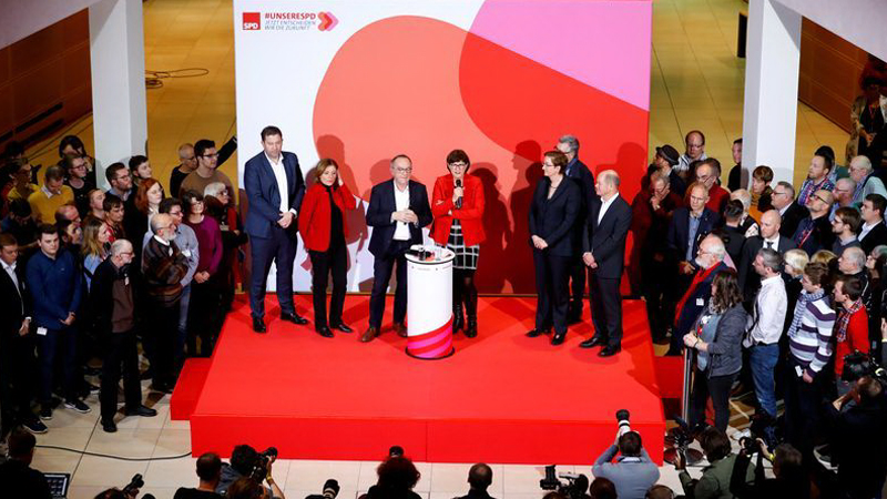 SPD leadership choice puts Germany at a political crossroads