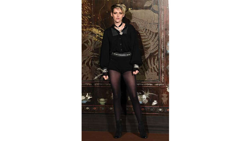 Gigi and Kristen Stewart wear risque looks at Chanel 2020 Pre-Fall fashion show