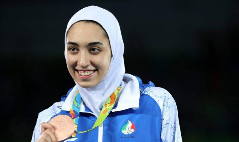 Iran's only woman to win an Olympic medal flees the country to e