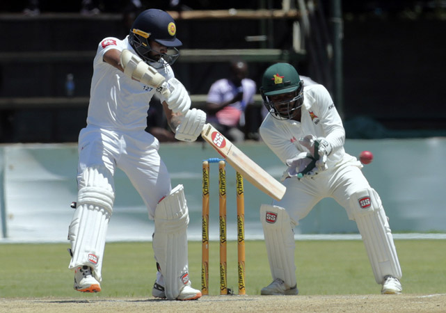 Angelo Mathews hits maiden double-ton to give Sri Lanka chance of victory