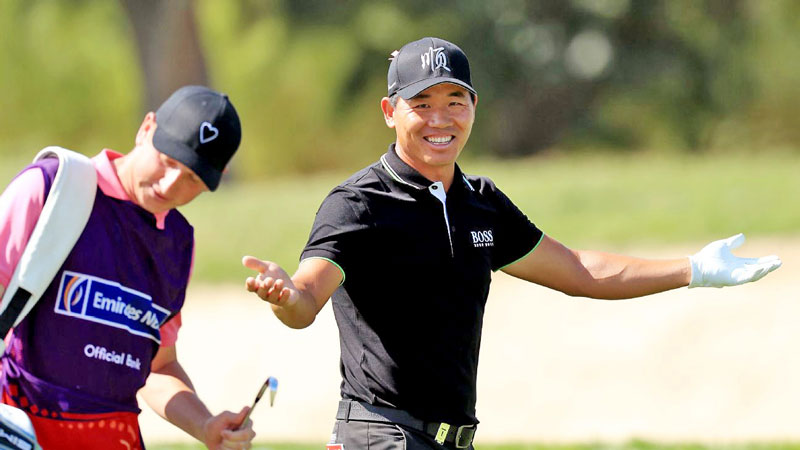 China's Wu takes slender lead into final round in Dubai