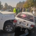 Two dead , five injured after US Embassy's car hit another vehicle