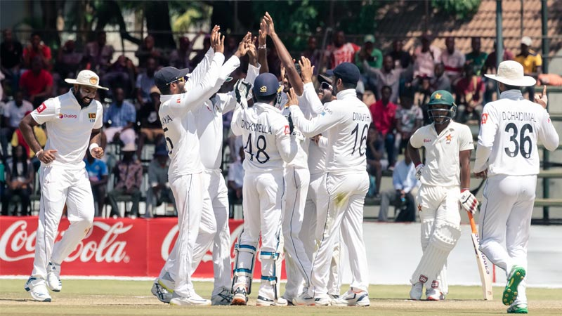 Lakmal bowls Sri Lanka to victory over Zimbabwe in first Test