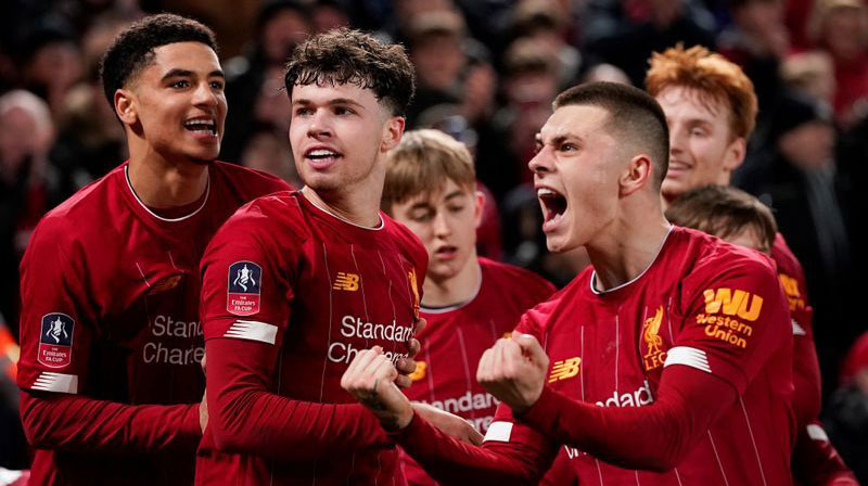 Liverpool's youngsters beat Shrewsbury in FA Cup replay